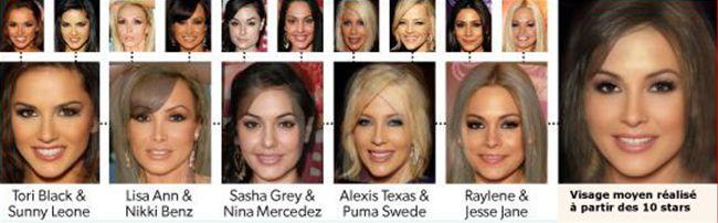 Star du X visage moyen