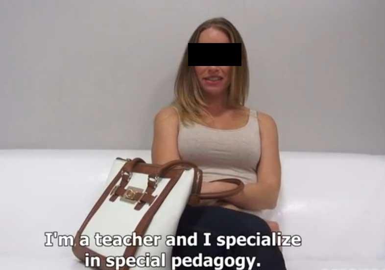 Enseignante Tchèque dans un porno