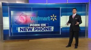 UNe fille de 14 ans voit du porno sur un nouveau tel acheté au wallmart