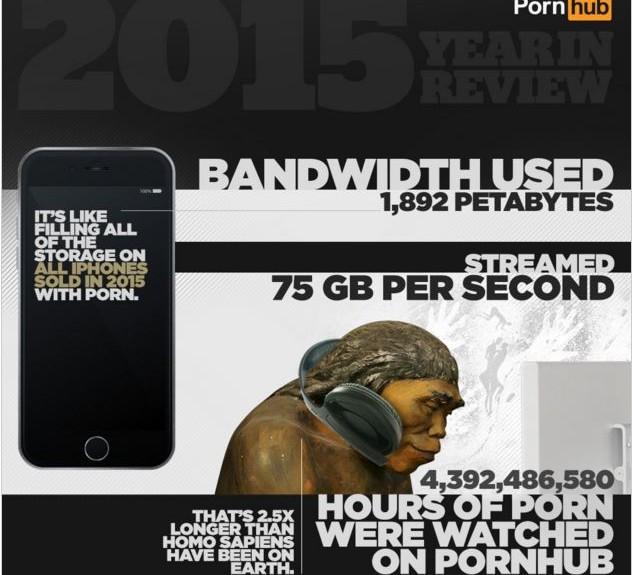 Les chiffres de Pornhub sur 2015