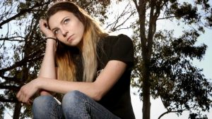Sarah une victime du porno Australien, elle avait 14 ans quand elle a envoyé des photos à son petit copain. Photo: Chris Pavlich