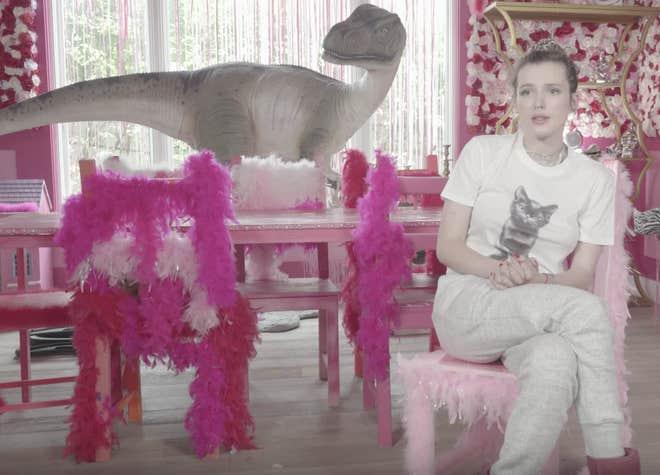 Thorne pendant le tournage